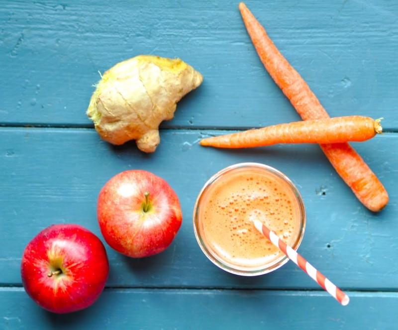 معجون کفیر طبیعی با زنجبیل تازه، سیب و هویج